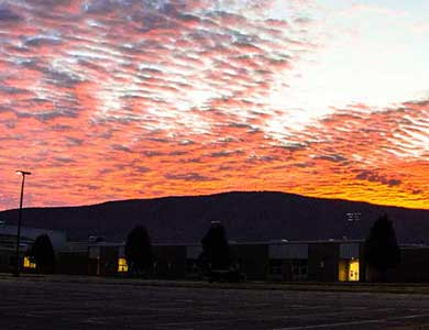Sunrise at Polk County High School